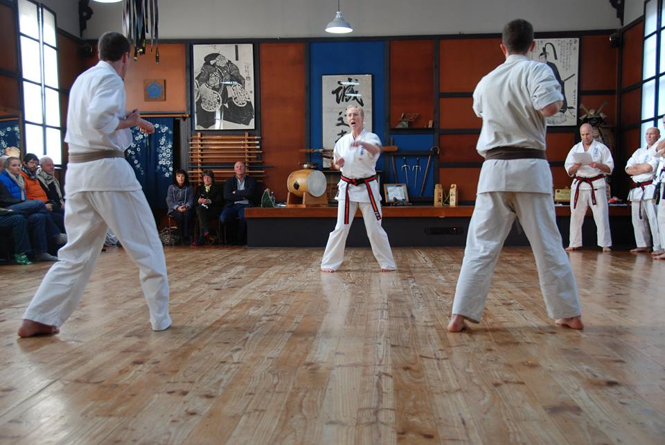 Chris and Tim face Kyoshi Tamara at the beginning of their promotion at Shibu, Christchurch.